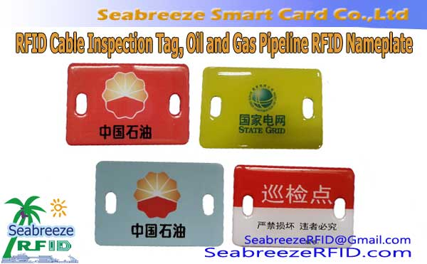 RFID Kablo Tag, RFID Underground Pipeline Inspection Tag, Equipment Inspekto RFID Tag, Oleo kaj Gas Pipeline RFID Nameplate