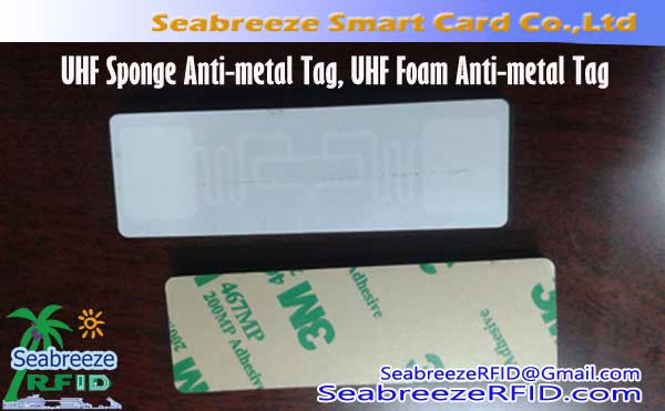 UHF Sponge Anti-metal Tag, UHF foam nga Anti-metal Tag
