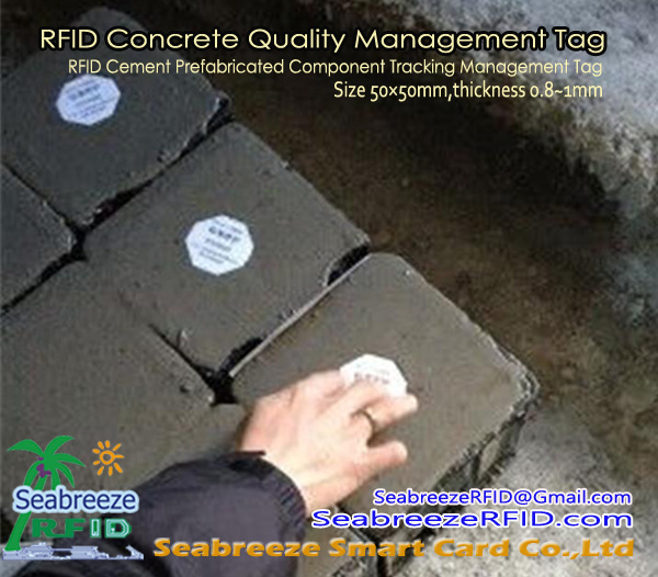 RFID Cement dop Management Tag, RFID Beton Quality Management Tag, van Shenzhen Seabreeze Smart Card Co, Ltd.
