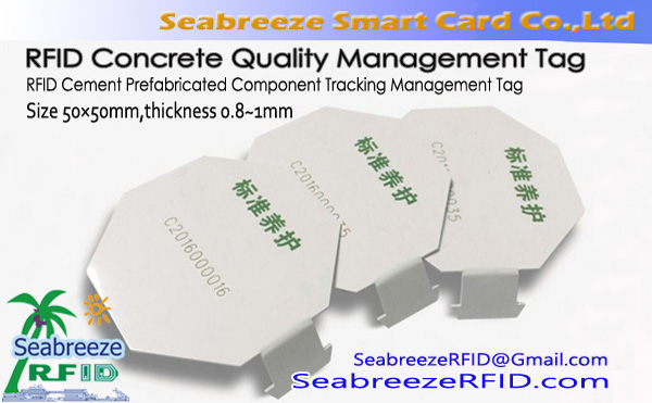 RFID Beton Quality Management Tag, RFID Cement dop Management Tag
