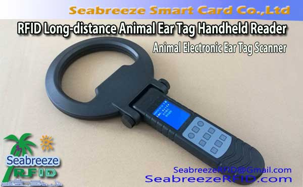 RFID Long-distance Animal Ear Tag Handheld Reader, Animal Electronic Ear Tag Scanner