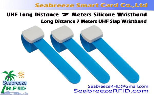 UHF Long Distance 7 Meters Silicone Wristband, Long Distance 7 Meters UHF Slap Wristband