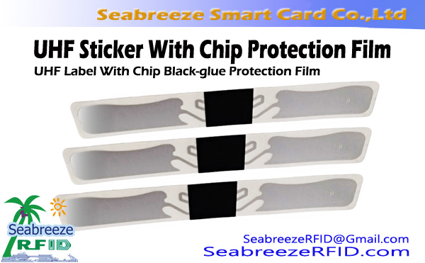 UHF límmiða með Chip Protection Film, UHF Label Með Chip Protection Film