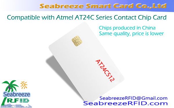 Dace da Atmel AT24C Series Contact Chip Card, Maras tsada