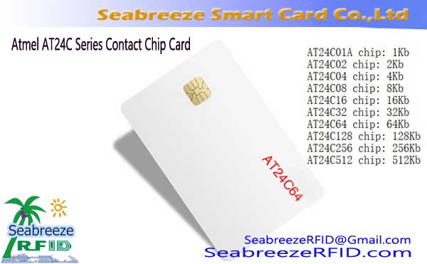 Atmel serie AT24C Contacto Chip Card, AT24C64 Contacto Chip Card ATMEL