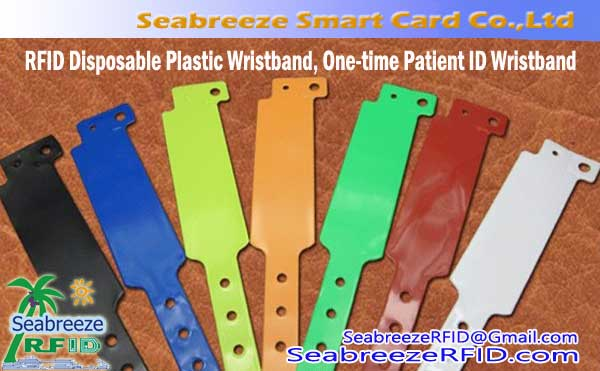 RFID Disposable PVC Wristband, One-time Patient ID Wristband, One-time Patient Identification Wristband
