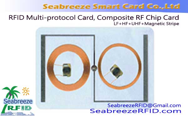Card Multi-frekuensi, RFID Multi-protokol Card, Composite RF Chip Card
