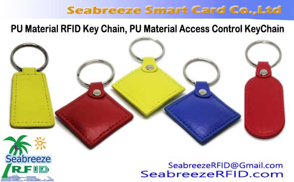 PU Material RFID Key Chain, PU Material Access Control KeyChain, PU Material NFC Key Chain, PU Material RFID Key Ring