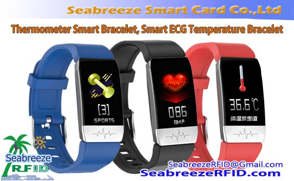 Ang Smart Body Thermometer Bracelet, Smart ECG temperatura nga pulseras