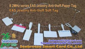 8.2Seri MHz EAS Bijou Anti-vòl Papye Tag, EAS Bijou Anti-vòl Soft Tag, 8.2MHz Jewelry Soft Tag, Seabreeze SmartCard Co.,Ltd.