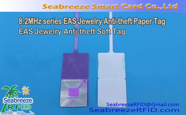 8.2Tag MHz EAS Jewelry Anti-theft Paper Tag,  Soft Tag Anti Pencurian Perhiasan EAS
