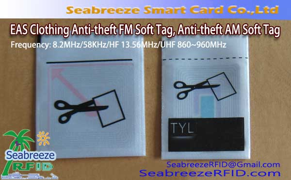 EAS Clothing Anti-theft FM Soft Tag, EAS Clothing Anti-theft AM Soft Tag, Clothing EAS Source Tag