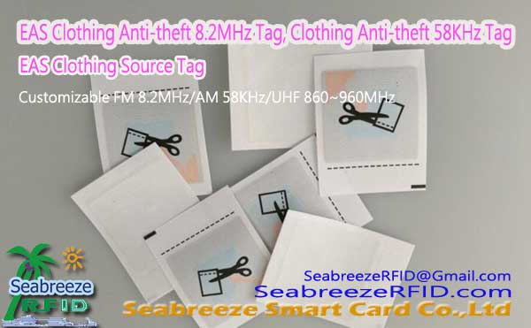 EAS Clothing Anti-theft FM Soft Tag, EAS Clothing Anti-theft AM Soft Tag, Clothing EAS Source Tag, from Seabreeze Smart Card Co.,Ltd.