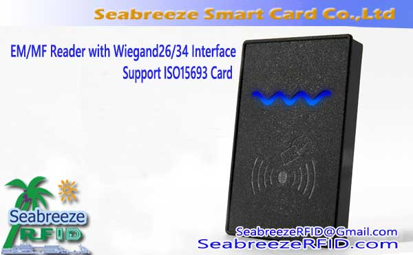 EM / MF Reader sa Wiegand26, Wiegand34 Interface, Suporta ISO15693 Card