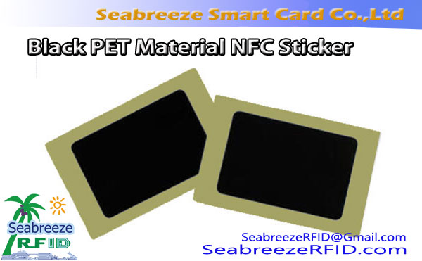 Svart PET-materiale NFC-klistremerke, Svart PET-materiale RFID-etikett