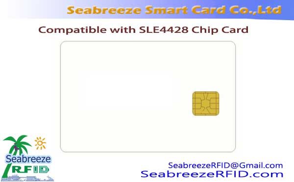 Compatible cum SLE4428 Card Chip, Contact Card SHJ4428 Chip