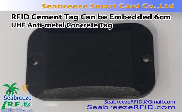 RFID Cement Tag สามารถฝังได้ 6 ซม, แท็กคอนกรีตป้องกันโลหะ UHF