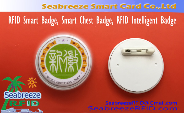 RFID Smart Badge, Smart Chest Badge, RFID Intelligent Badge