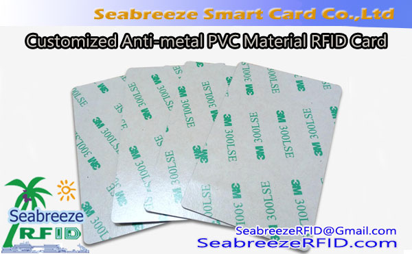 Customized Anti-metal Smart Card, Customized Anti-metal PVC Material RFID Card, Customized Anti-metal Plastic IC Card
