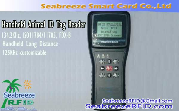 Handheld Long Distance Animal ID Tag Reader, 134.2KHz, ISO11784/11785, FDX-B