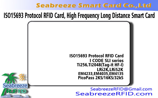 ISO 15693 Protocol RFID Chip Card, Tinggi Frékuénsi Card Long Distance Smart