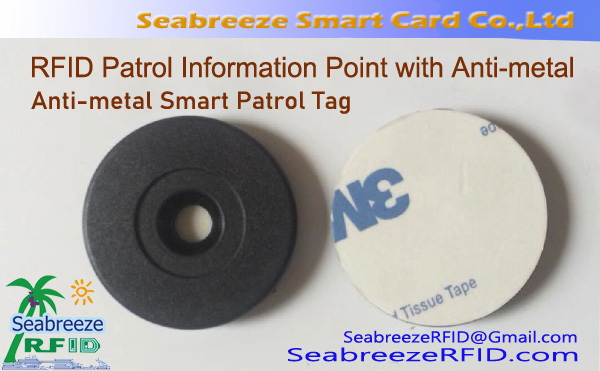 RFID Patrol Information Point with Anti-metal, Anti-metal Smart Patrol Tag, Anti-metal RFID Patrol Locator Button