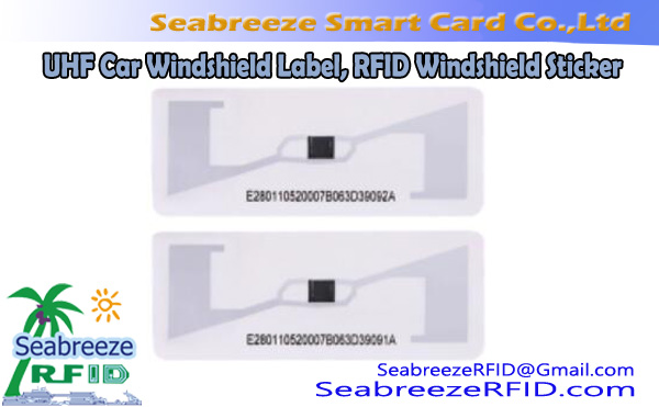 UHF Car Windshield Label, Long-distance UHF Automobile Windshield Label, ISO18000-6C Windshield Label