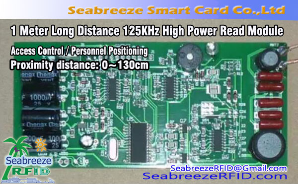 1 Mita Long Distance 125KHz High Power Ka Module fun Access Iṣakoso ati Personnel Positioning
