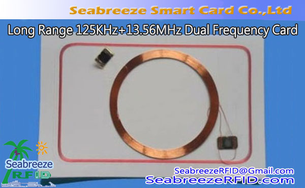 Long Distance 125KHz + 13.56MHz Meji Igbohunsafẹfẹ Card, Long Range EM4200 + FM11RF08 eroja Chip Card