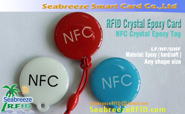RFID Crystal epoxy Card, NFC Crystal epoxy Tag