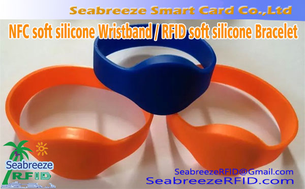 NFC Soft Silicone Wristband, NFC Intelligent Proximity Silicone Wristband