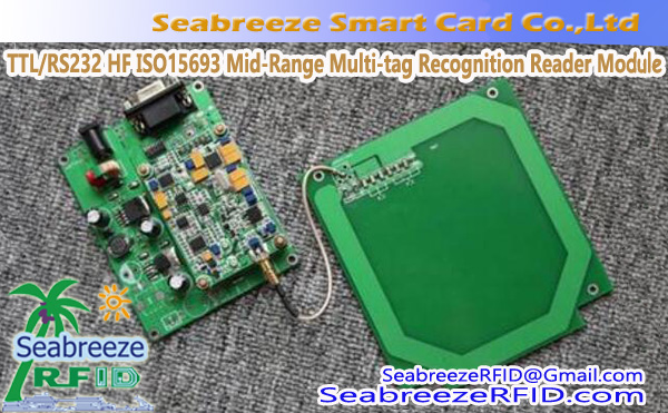TTL/RS232 HF ISO15693 Mid-Range Multi-tag Recognition Reader Module