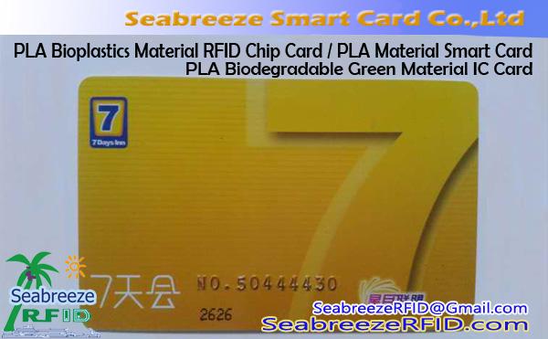 PLA Bioplastics Material RFID Chip Card, PLA Biodegradable Green Material IC Card, PLA Material Smart Card