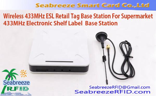 Wireless 433MHz ESL Retail Tag Base Station For Supermarket