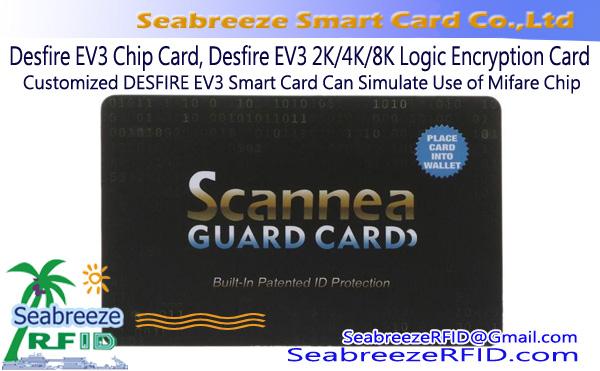 Desfire EV3 2K / 4K / 8K Chip Card, Desfire EV3 2K / 4K / 8K Logic Encryption Card, Ang Pasadyang DESFIRE EV3 Card ay Maaaring Gayahin ang Paggamit ng Mifare Chip