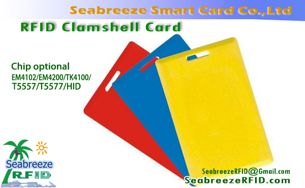 RFID Clam Shell Card, EM4102 Clam Shell Card, T5577 Clam Shell Card, Access Control Clamshell Card